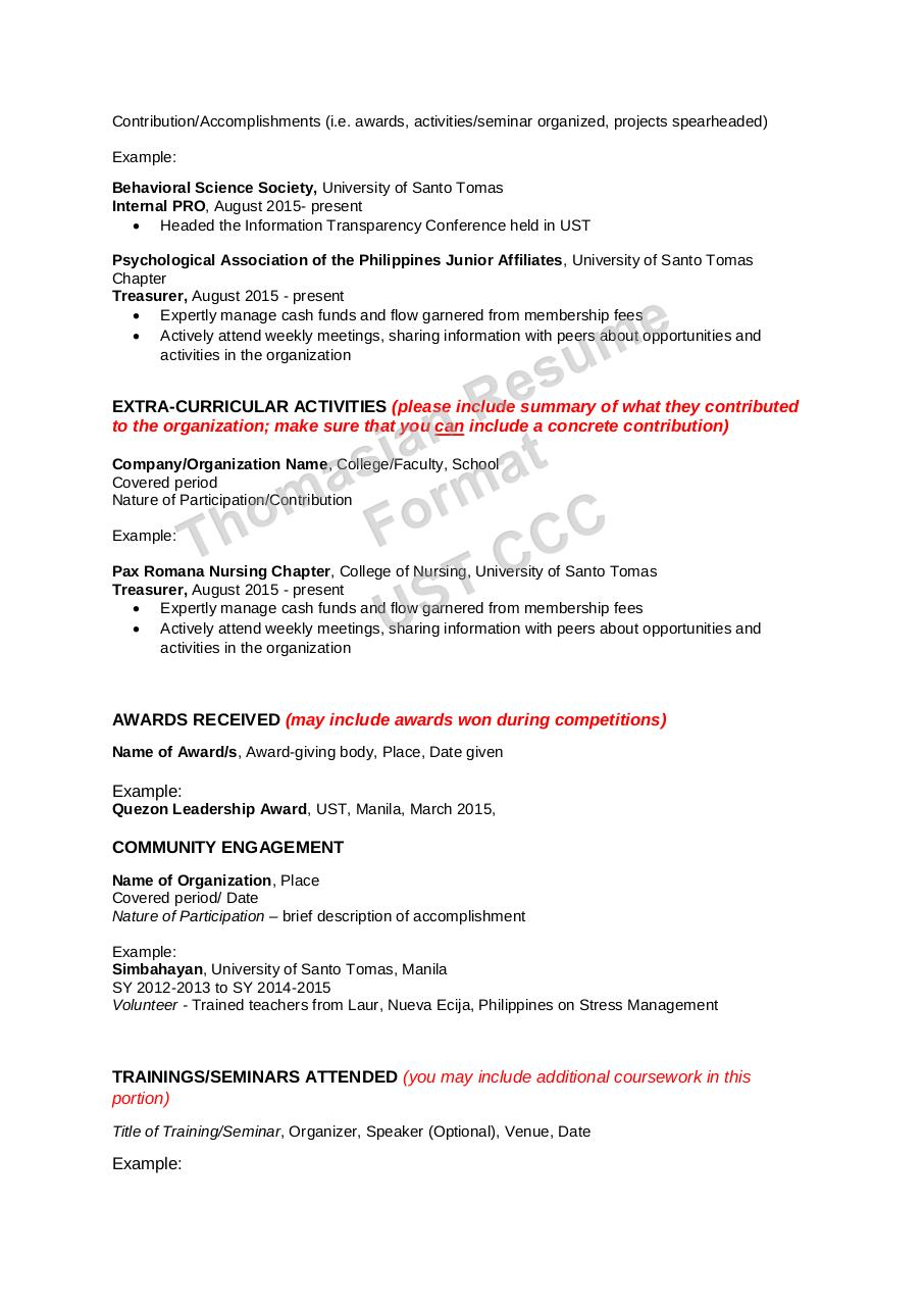 Document preview THOMASIAN RESUME FORMAT 17-18.pdf - page 2/4