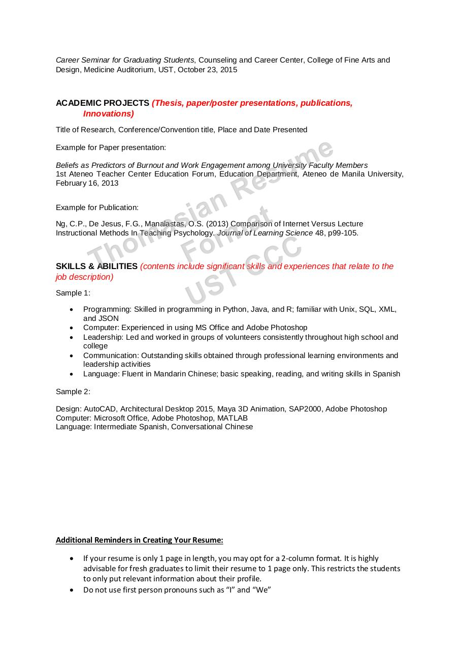 Document preview THOMASIAN RESUME FORMAT 17-18.pdf - page 3/4