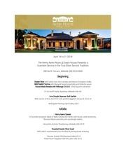 ayers house tasting australia menu