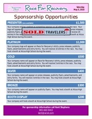 2018 sponsorship opportunities 03 11 18