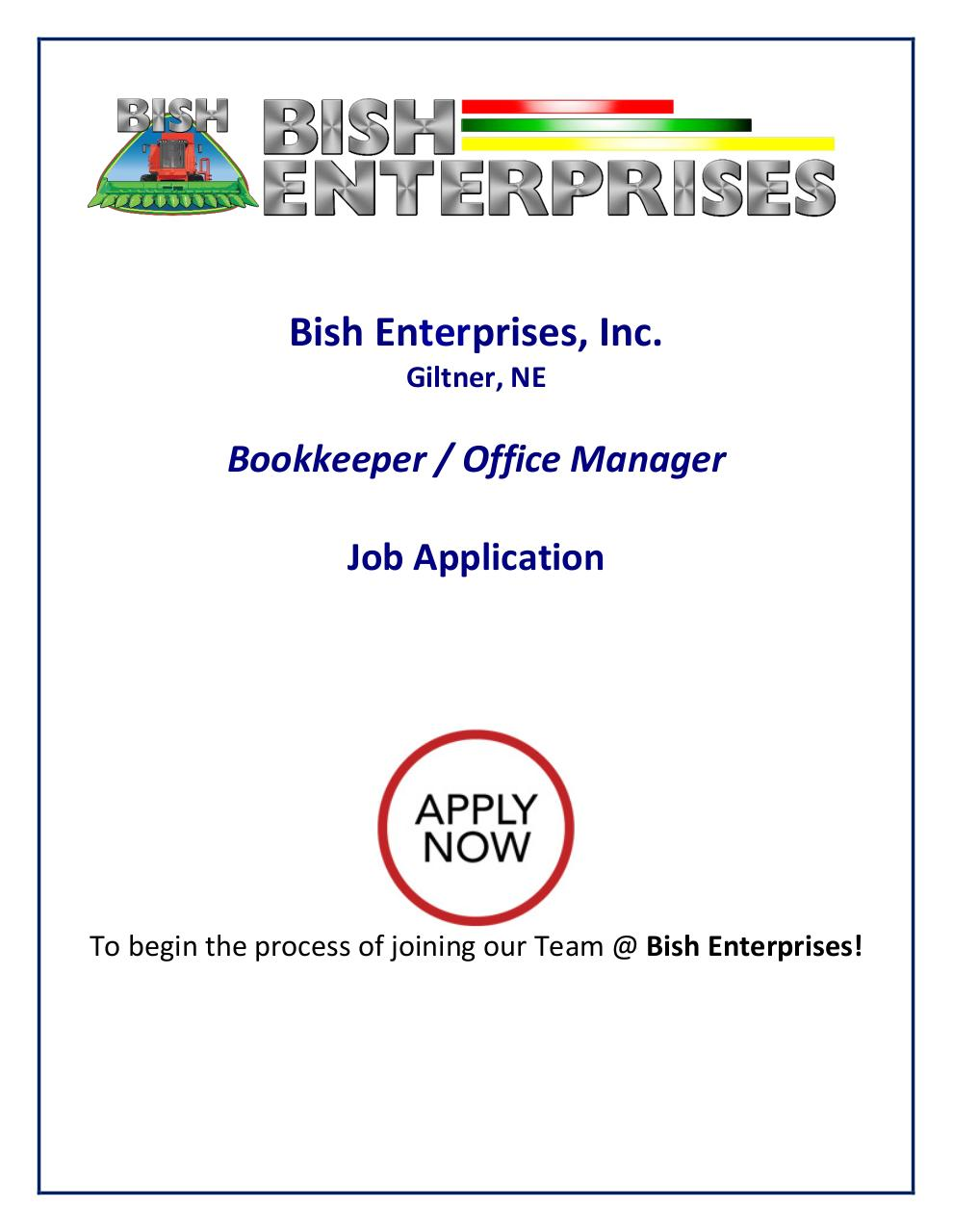 Application - Bookkeeper Office Manager.pdf - page 1/10