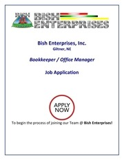 application bookkeeper office manager