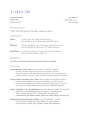 justinchi resume