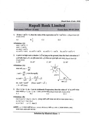 rupali bank math solution by khairul alam