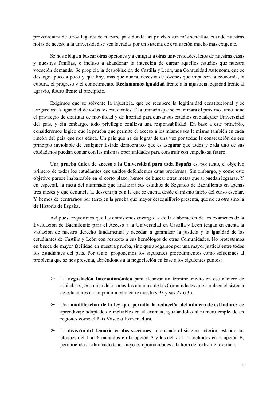 Document preview MANIFIESTO - Castilla y León, con honra.pdf - page 2/3