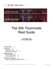 sith raid teams and strats