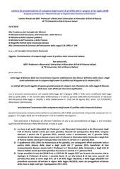 lettera proclamazione sciopero 16 2 2018