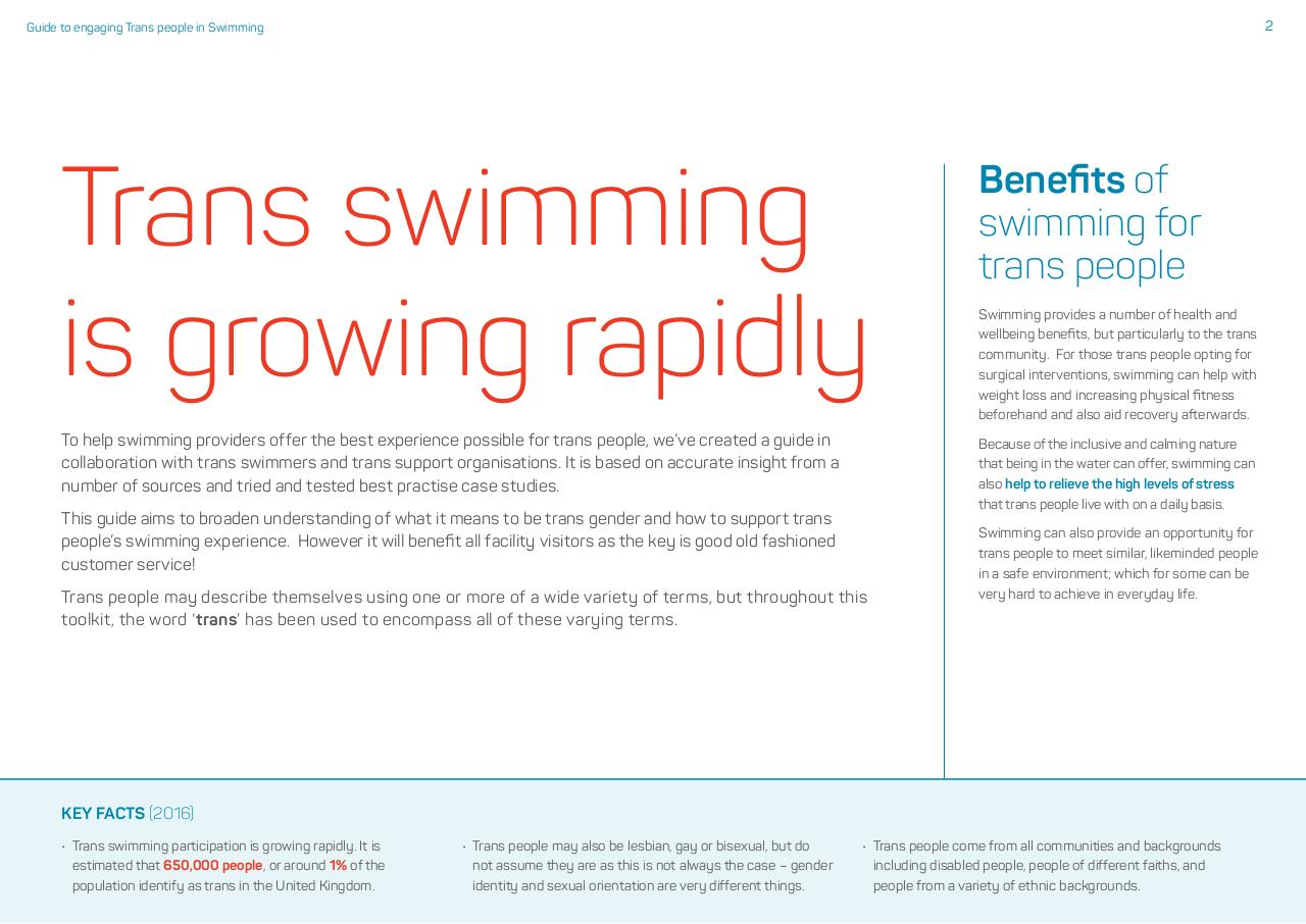 Swim England Guide to Engaging Trans People in Swimming.pdf - page 2/15