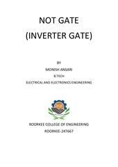 digital logic an inverter or not gate
