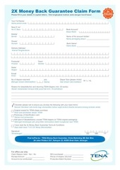tena 2x money back guarantee claim form r2 final