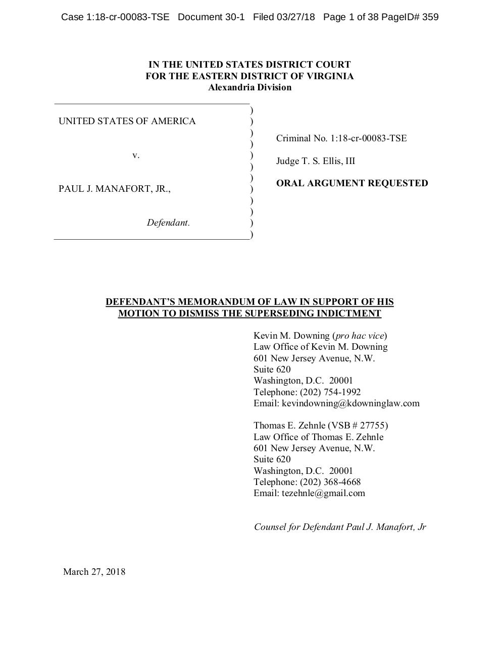 Manafort Motion to Dismiss.pdf - page 3/40
