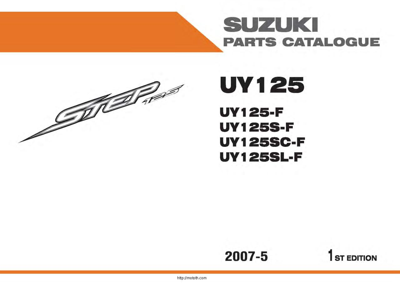 Suzuki-Step-125-parts-Manual.pdf - page 1/103