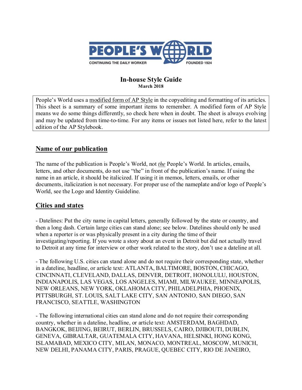 People's World Style Guide - March 2018.pdf - page 1/6