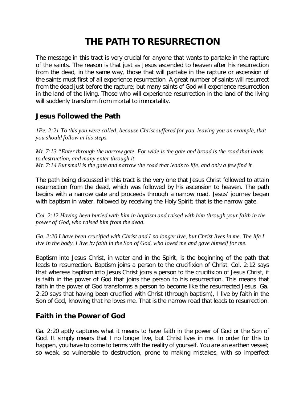 THE PATH TO RESURRECTION.pdf - page 1/3