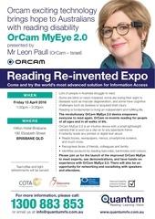 orcam april 13 save the date flyer brisbane