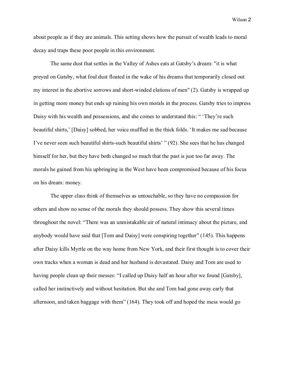 High School Admission Essay Examples Great Gatsby Essaysydney Wilsonpdf  Page  After High School Essay also An Essay On English Language Great Gatsby Essay Sydney Wilson  Pdf Archive Research Papers Examples Essays