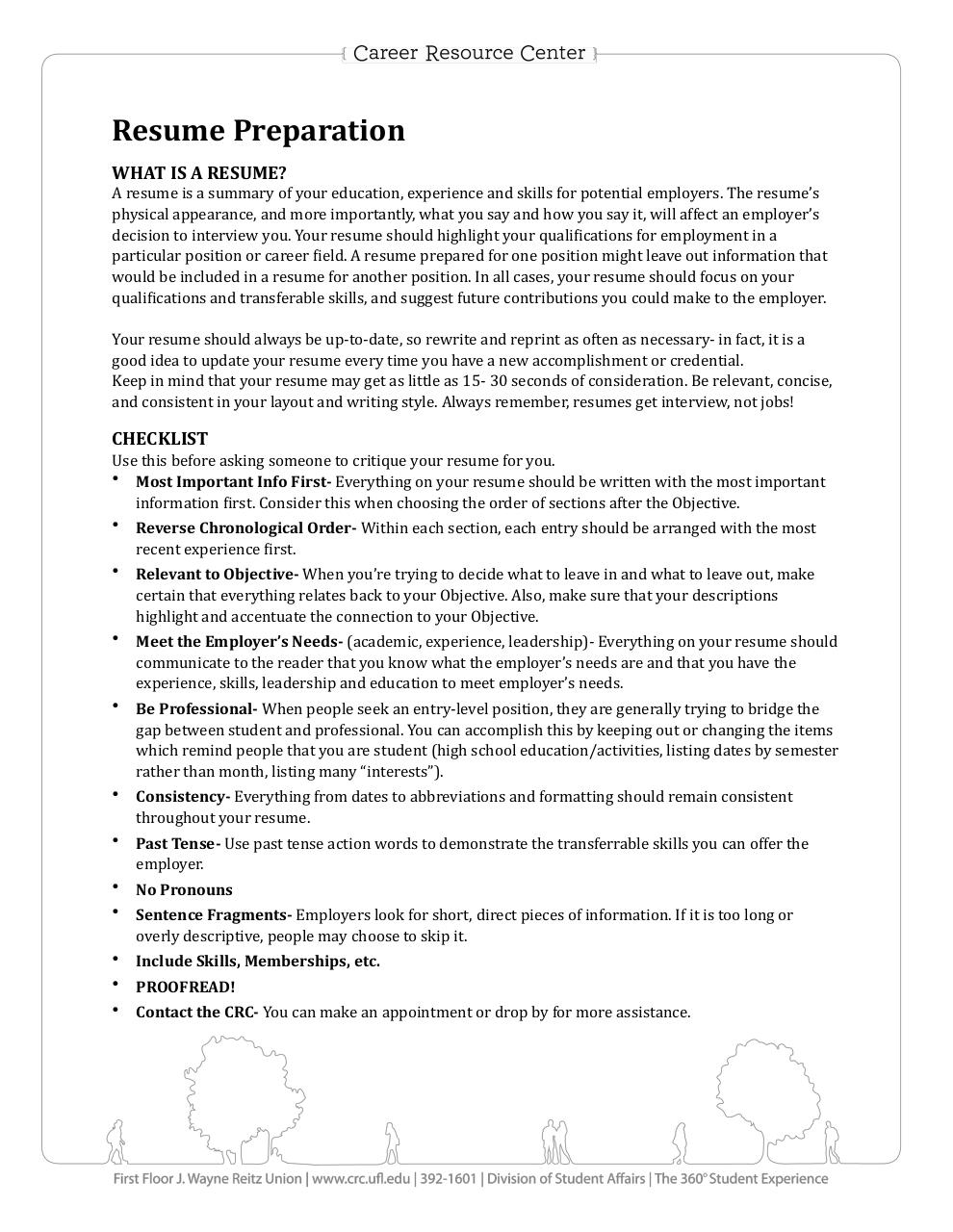 Document preview ResumePreparation.pdf - page 1/2