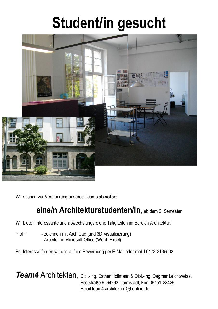 Document preview stellenauschreibungteam4-architekten.pdf - page 1/1