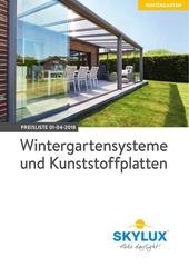d t preisliste wintergartensysteme und kunststoffplatten