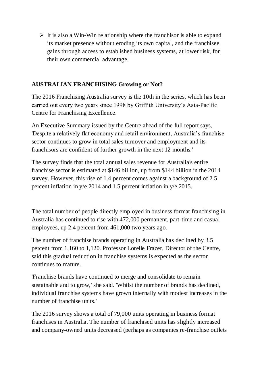 Franchising on the rise in Australia.pdf - page 3/14