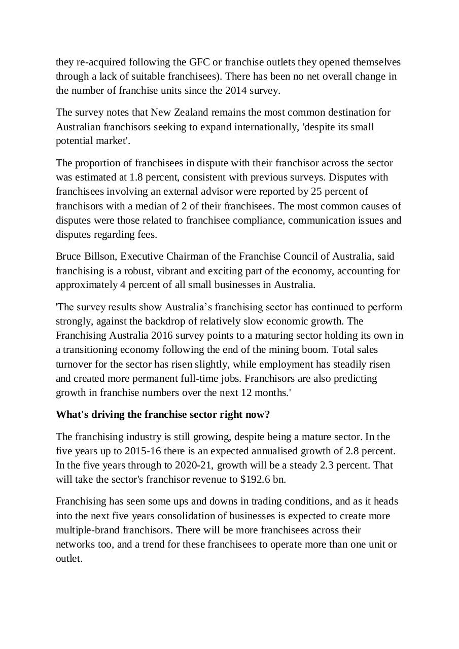 Franchising on the rise in Australia.pdf - page 4/14