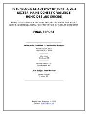 dexter dvh psychological autopsy final report 112811