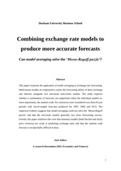 PDF Document can model averaging solve the meese rogoff puzzle