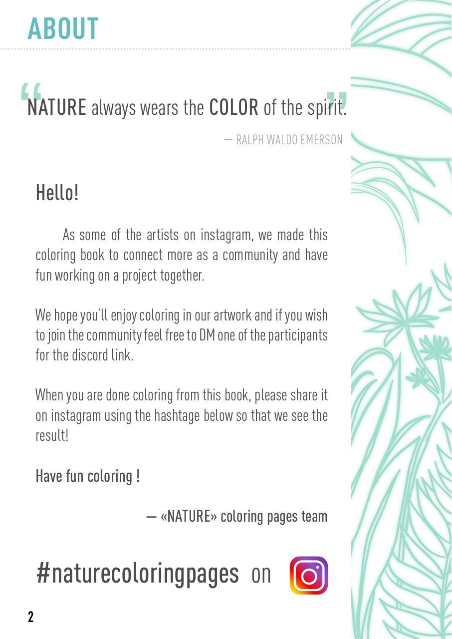 Nature Coloring Book Pdf Archive