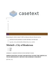 mitchell v city of henderson nv