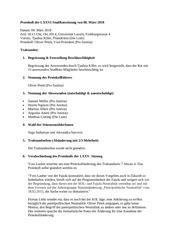protokoll der lxxvi studratssitzung