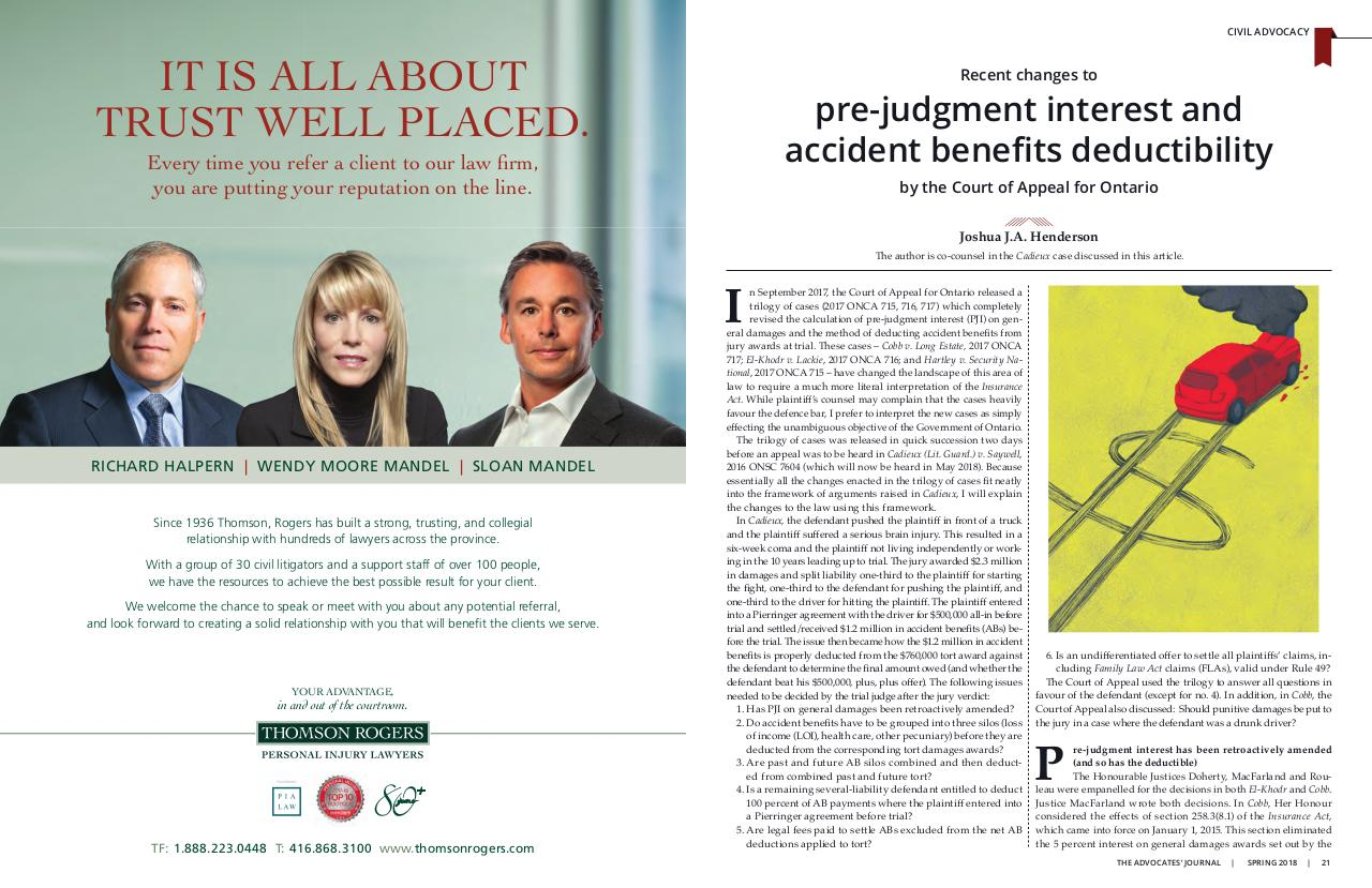 Advocates Journal - PJI and AB Deductibility - Henderson.pdf - page 1/2