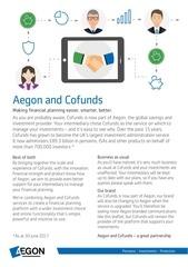 insert aegon and cofunds