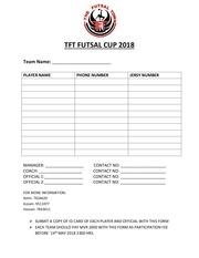 tft futsal cup 2018