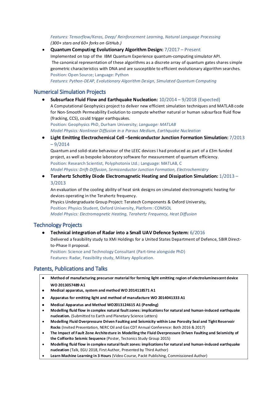 Document preview Thomas Snell Curriculum Vitae Current.pdf - page 2/2