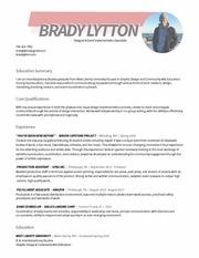 bradylytton resume 2018