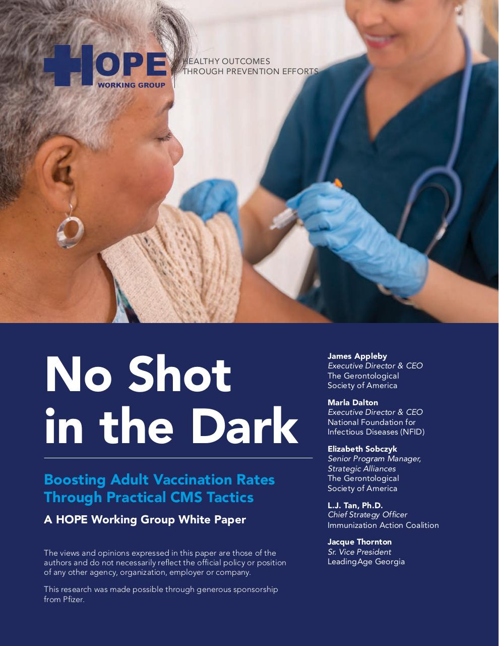'No Shot in the Dark' FINAL HOPE white paper 4.27 ONLINE.pdf - page 1/19