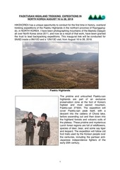 PDF Document trekking expeditions in north korea august 16 to 28 pdf