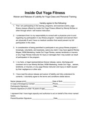 PDF Document liability and release form
