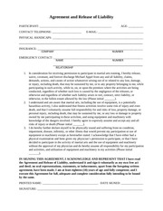 personal training release waiver