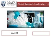 clinical diagnostic biochemistry   1 18