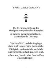 spirituelle gefahr