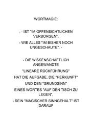 wortmagie
