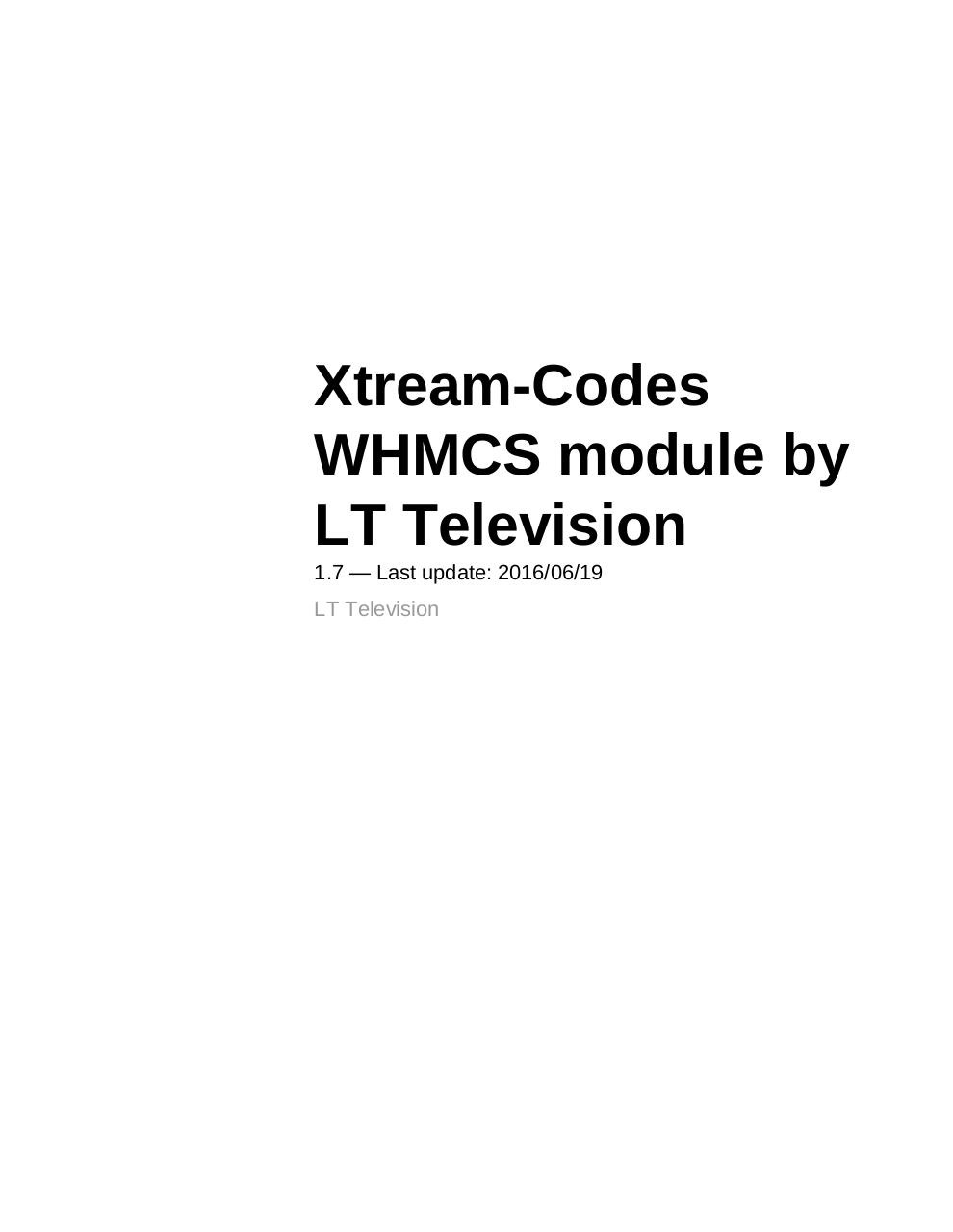 LT Xtream codes Billing Panel by user - PDF Archive