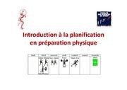 planification dentrainement