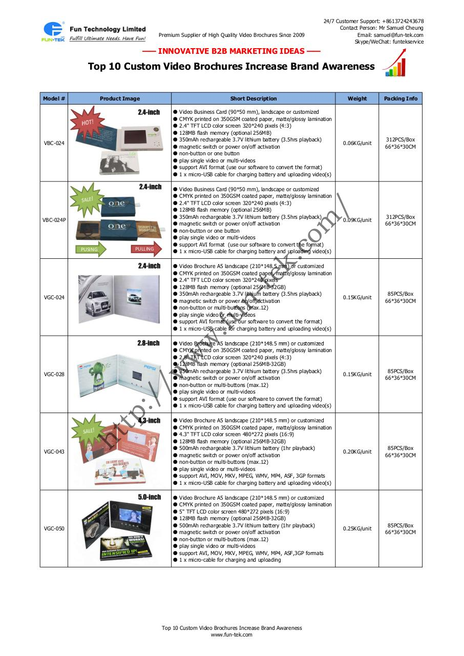 Top 10 Custom Video Brochures from Suppliers in China.pdf - page 1/2