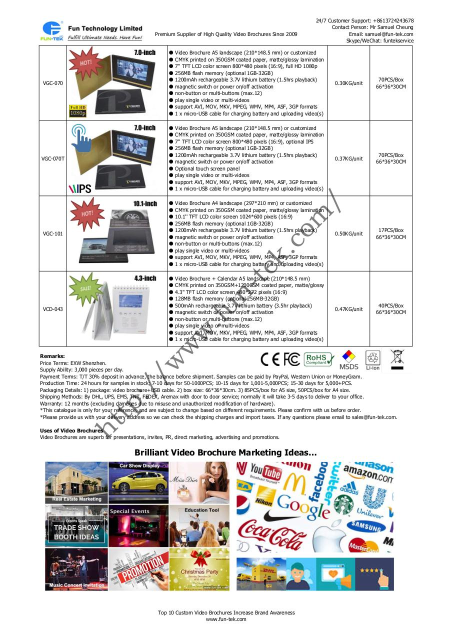 Top 10 Custom Video Brochures from Suppliers in China.pdf - page 2/2