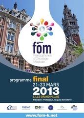 21 23 mars   fom  francophones doncologie medicale 1