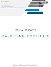jessicadepinto 2018 portfolio