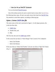 help netcdf extractor v10