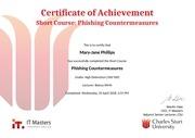 phishing countermeasurescertificate of achievement
